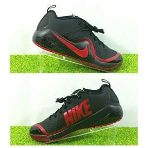 NEW Nike Force Zoom Trout 4 Turf Shoes Black Red